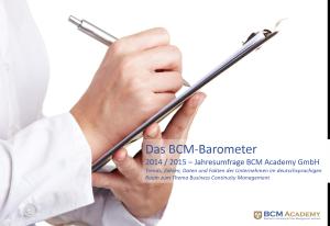 Titelblatt BCM Barometer