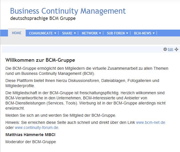BCM Forum