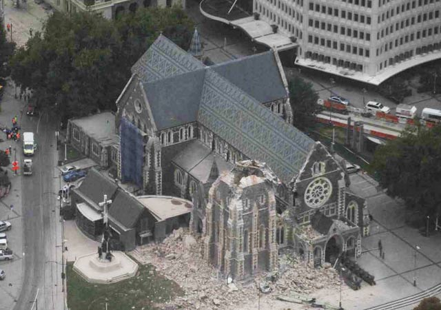 Tag 2 In Christchurch (Neuseeland) Nach Dem Erdbeben
